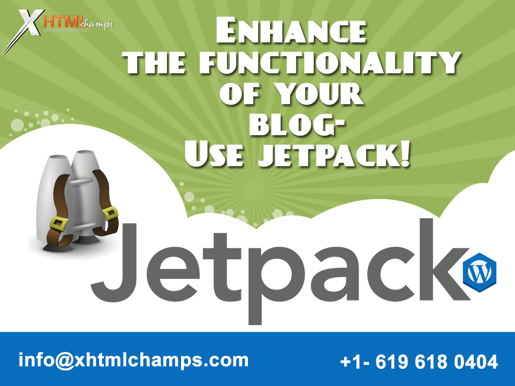 Enhance the functionality of your blog-Use jetpack!