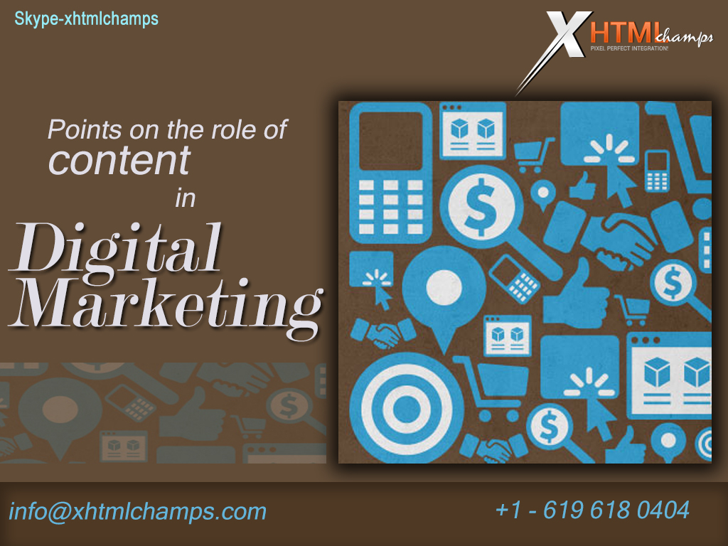 Points on the role of content in Digital Marketing