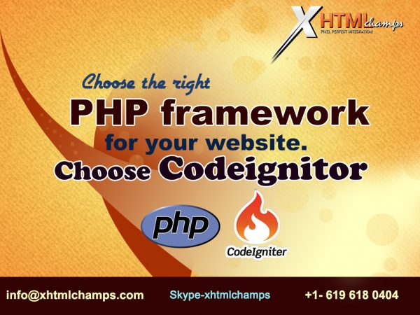 Choose the right PHP framework for you website Choose Codeignitor.
