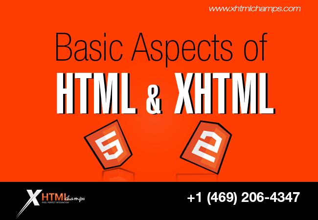 basic aspect of html n xhtml